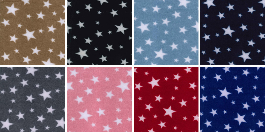 Multi Stars Printed Anti Pil Fleece Montage