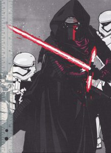 star wars fabric force awakens grey